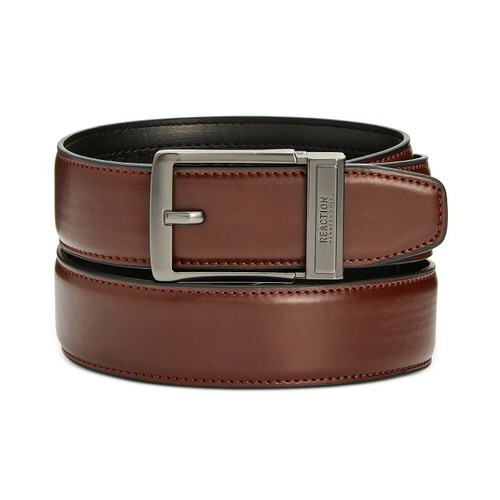 Kenneth Cole Reaction Men's Exact Fit Dress Belt Brown Size Small