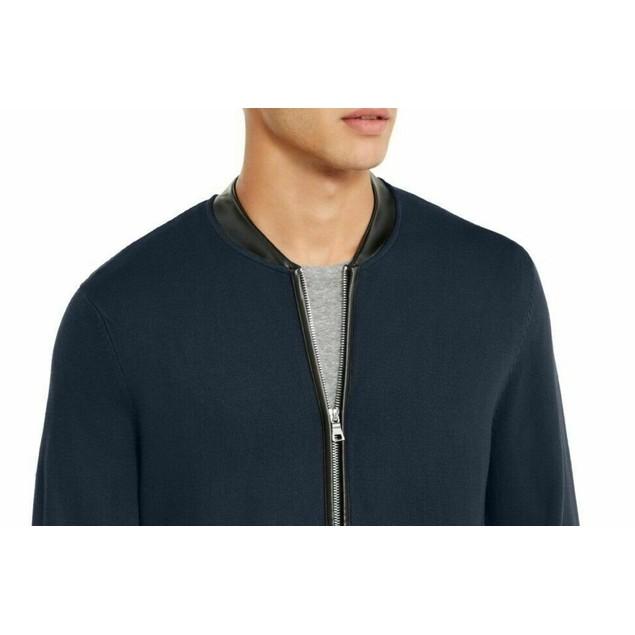INC International Concepts Men's Zip-Front Cardigan Blue Size X-Large