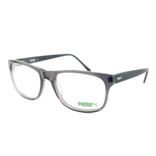 Puma Eyeglasses Men Grey Full Rim Square 55 18 140 PE0020O 008