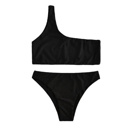 Women's One-shoulder Split Swimsuit - 5 Colors