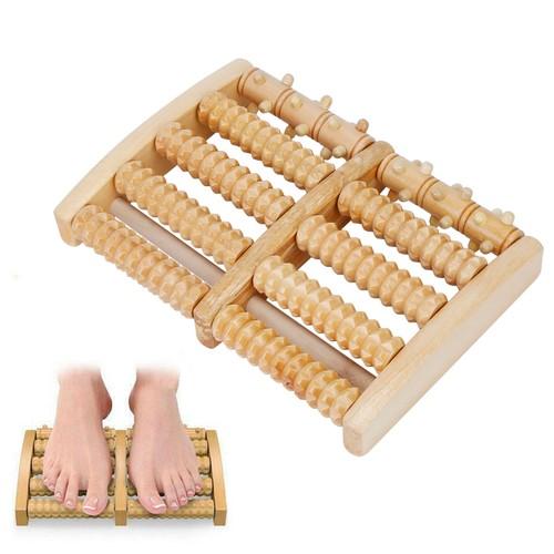 Dual Wooden Stress Relief Massage Foot Roller