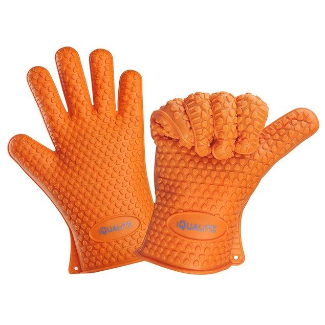 Kitchen Silicone Heat Resistant Gloves Oven Grill Pot Holder BBQ