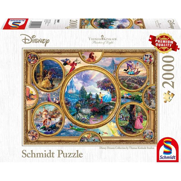 Thomas Kinkade: Disney - Dreams Collection 2000 Piece Jigsaw Puzzle