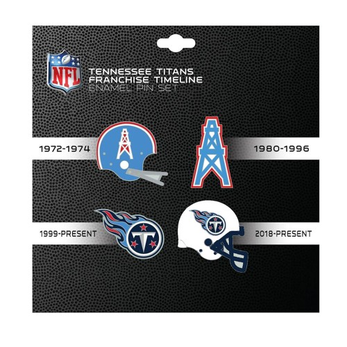 NFL Tennessee Titans 4 Pin Set Franchise Timeline Collectible Throwback