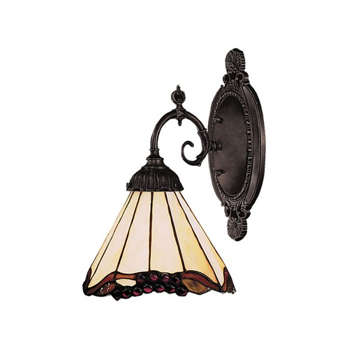 Mix-N-Match 1 LT LED Wall Sconce In Tiffany Bronze And Honey Dune Glass