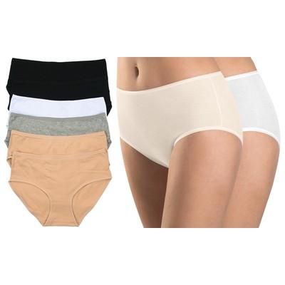 (6-Pack) ToBeInStyle Women's Everyday Cotton Brief Panties