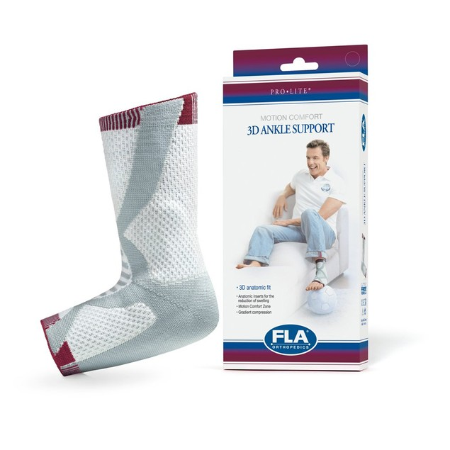 FLA ProLite 3D Compression Ankle Support Left Large Reduces Edema &