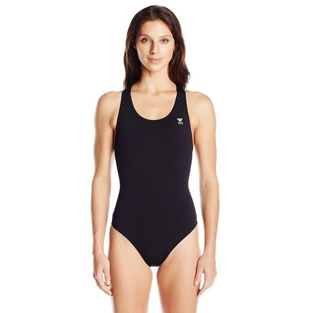 TYR Women's Durafast Elite Solid Maxfit Swimsuit (Black, Size 38)