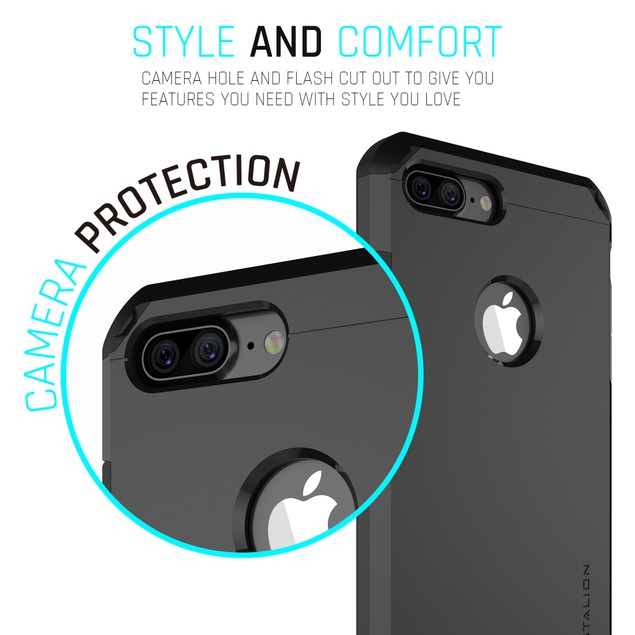 Stalion Solid Rugged Tough Armor Protective Hard Case for iPhone 7 7 Plus
