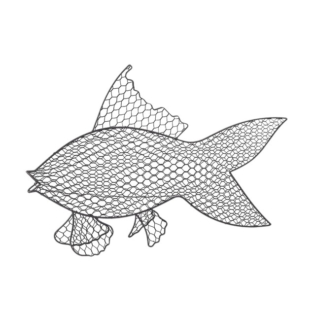 Sterling Wire Fish Wall Decor - Grey Iron