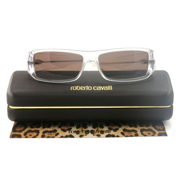 Roberto Cavalli Unisex's Sunglasses JC0355 151 Clear 52 14 135 Rectangular