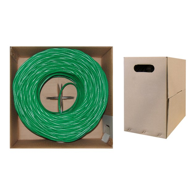 Bulk Cat6 Green Ethernet Cable, 1000 foot