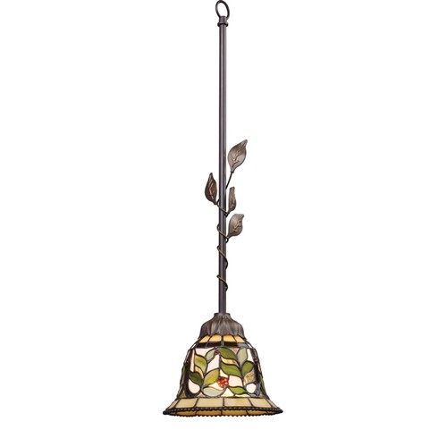 ELK Lighting Home Office Decor Latham 1 Light Pendant In Tiffany Bronze