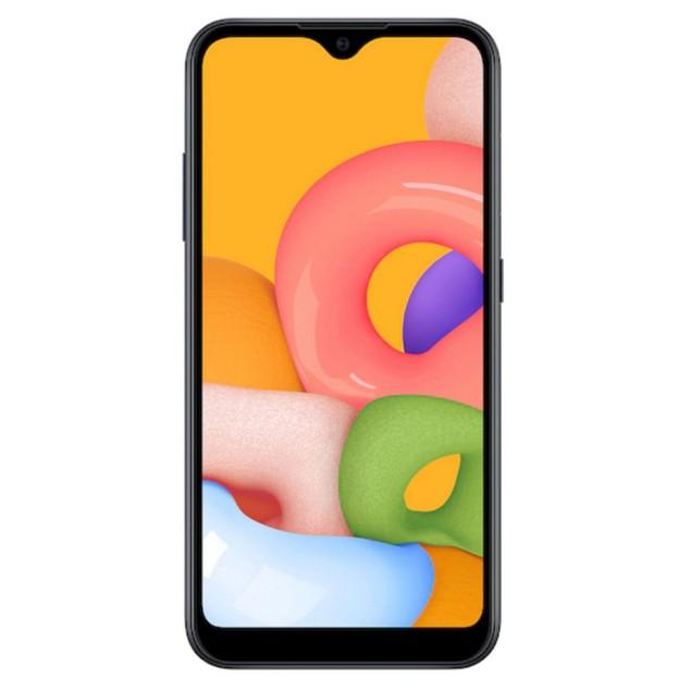 Samsung Galaxy A01, Tracfone, Grade B-, Black, 16 GB, 5.7 in Screen