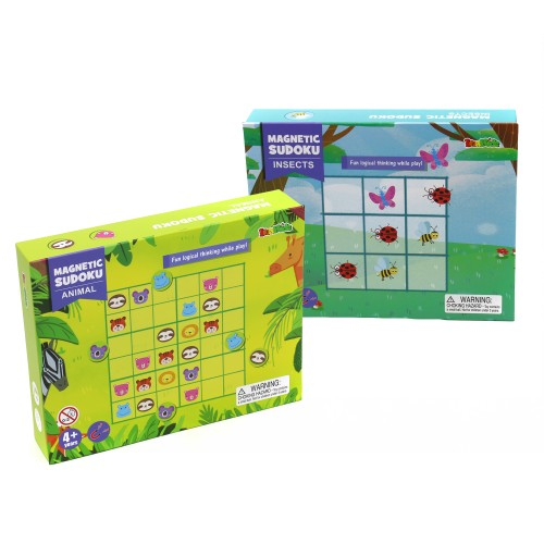 Zummy Educational Kids Creative Magnetic Play Sudoku Insect & Animal Learning