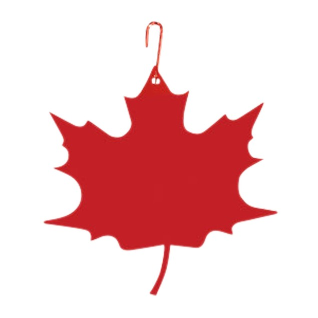 Village Wrought Iron Maple Leaf - Decorative Hanging Silhouette - Red