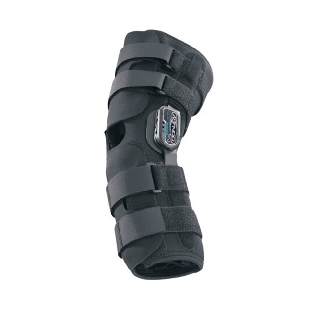 Donjoy Playmaker Drytex Knee Sleeve w/ Popliteal Cutout & Donut, XL, Black