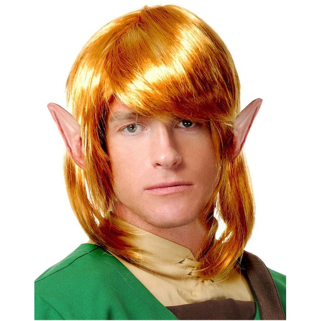 Elf Warrior Wig Link The Legend of Zelda Adult Accessory Blonde Costume