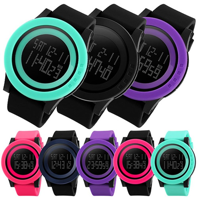 Men's Fashion Sports Silicone Waterproof LED Digital Watch