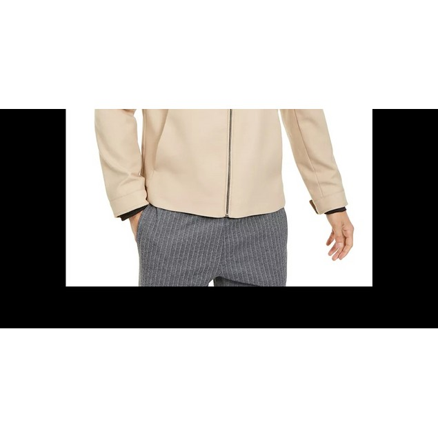 Alfani Men's Full-Zip Jacket Lt Beige Size Large