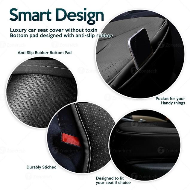 Zone Tech Heated Seat Cushion Cover USB Cigarette Lighter Converter Remote