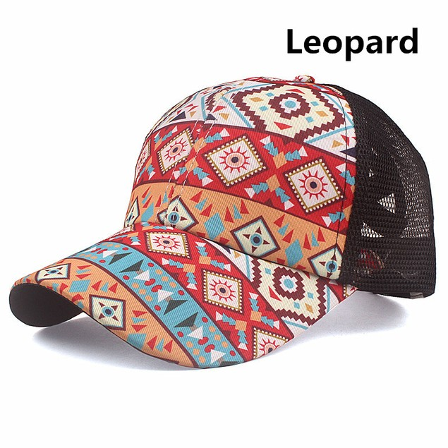 Cross Ponytail Baseball Cap Cotton Embroidered Patch Cap