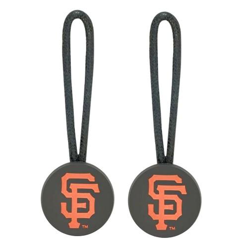 San Francisco Giants Zipper Pull Charm Tag Set Luggage Pet ID MLB