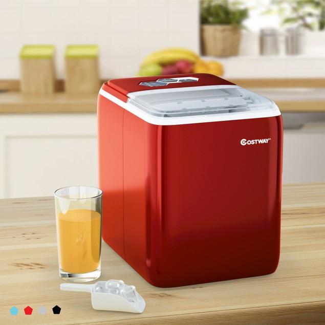Costway Portable Countertop Ice Maker Machine 44Lbs/24H Self-Clean w/Scoop