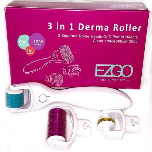 3 In 1 Derma Roller Set 0.5mm, 1.0mm, 1.5mm Micro Needles