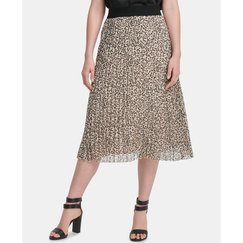 DKNY Women's Pull-On Pleated Skirt Dark Gray Size Small