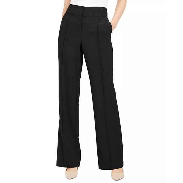 Alfani Women's Pintuck Tummy Control Trousers Black Size 4 Petite