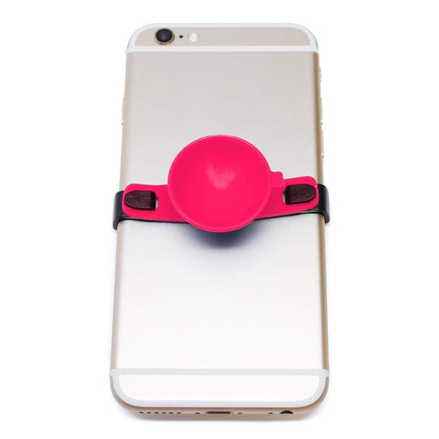 SUC-IT Thermal Silicone Suction Cup Phone Holder Stand, Pink/Black