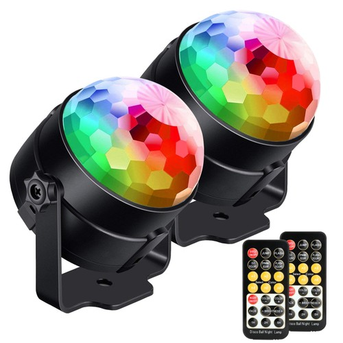 FITNATE SOUND ACTIVATED PARTY LIGHTS WITH REMOTE CONTROL DJ LIGHTING