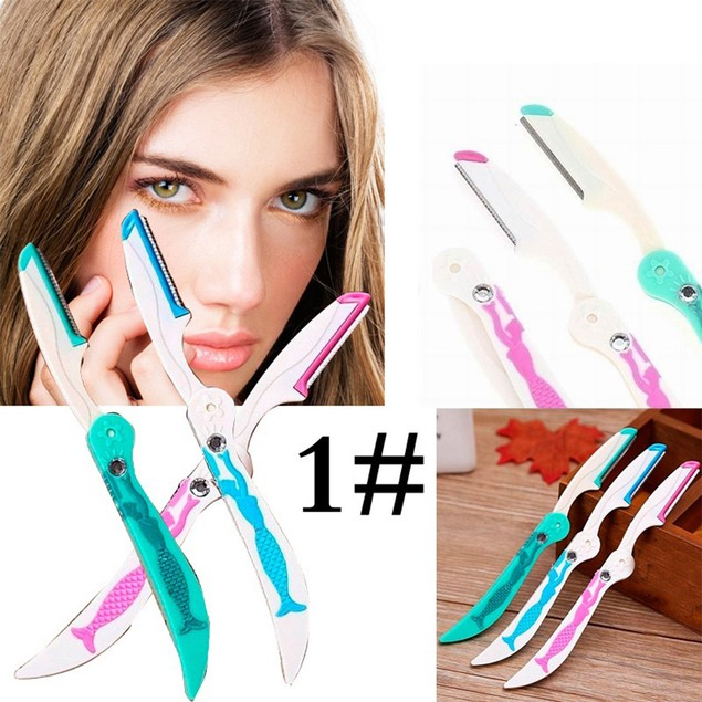 3Pcs Blade Eyebrow Face Hair Removal Razor Trimmer Shaper Shaver