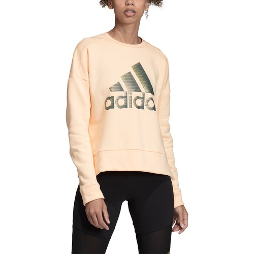 Adidas Women's Glam-Logo Sweatshirt Pasorg Size Medium