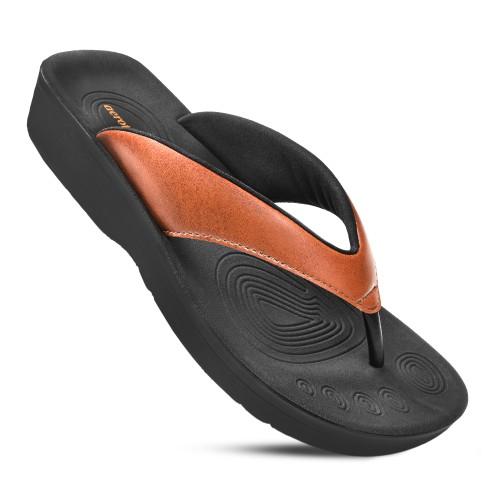 AEROTHOTIC Women's Ravine Orthotic Thong Sandals