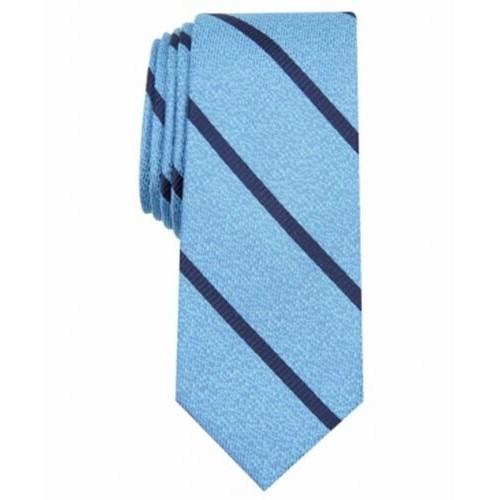 Bar III Men's Abbey Skinny Stripe Tie Navy Size Regular