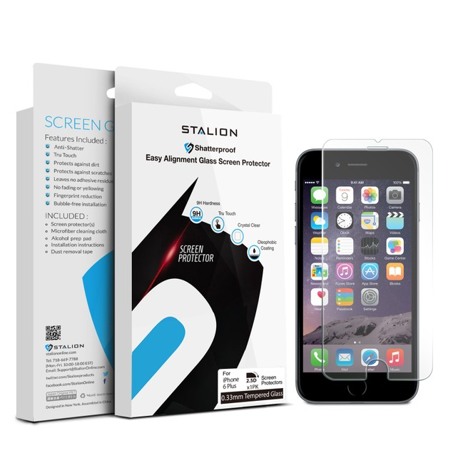 "Stalion Shield Premium Screen Protector Film Guard for iPhone 6s Plus 5.5"""