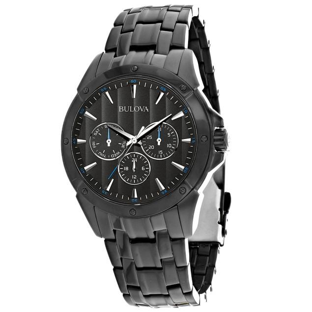 Bulova Men's Classic Black Dial Watch - 98C121