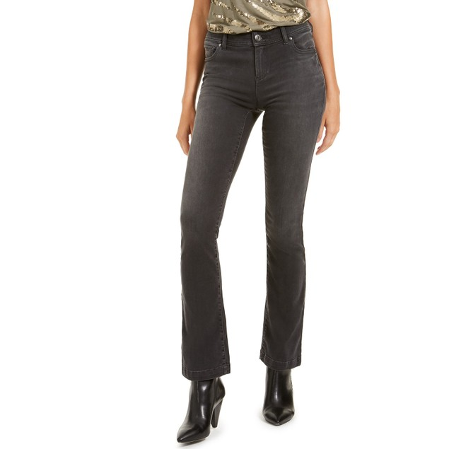 INC International Conceps Women's Incfinity Bootcut Jeans Black Size 2