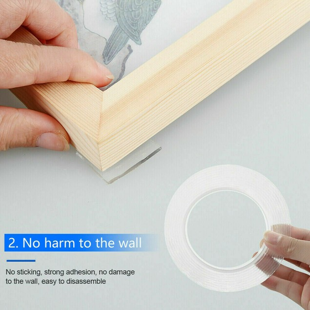 Reusable Washable Nano Grade Double Sided Anti-Slip Tape