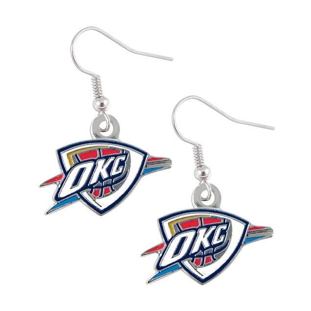 Oklahoma City Thunder NBA Dangle Logo Charm Earring Set