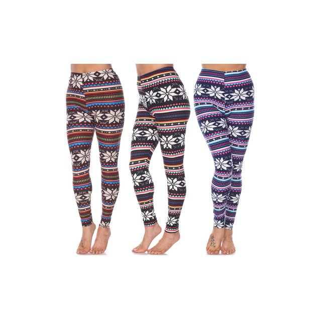 Pack of 3 Leggings - 10 Colors - One Size Fits All