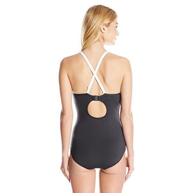 Seafolly Women's Block Party DD Maillot One Piece Swimsuit, Black, 6
