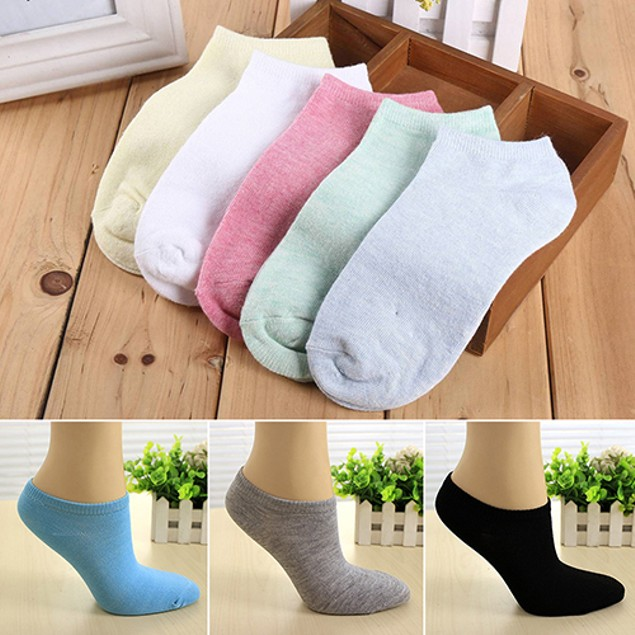Lady 1 Pair Candy Color Ankle Socks
