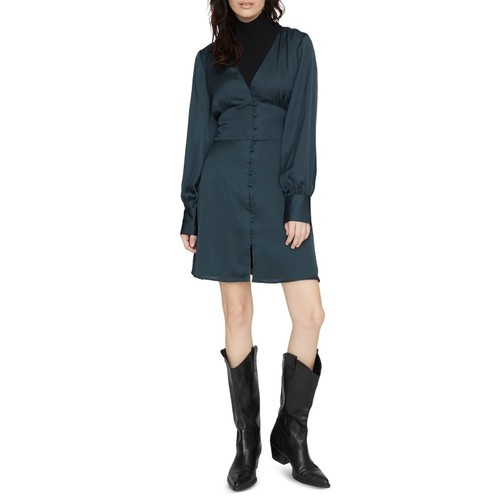 Sanctuary Women's Into The Night Satin Dress Dark Green Size 12