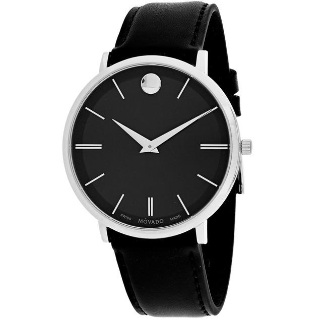 Movado Women's Ultra Slim Black Dial Watch - 607086