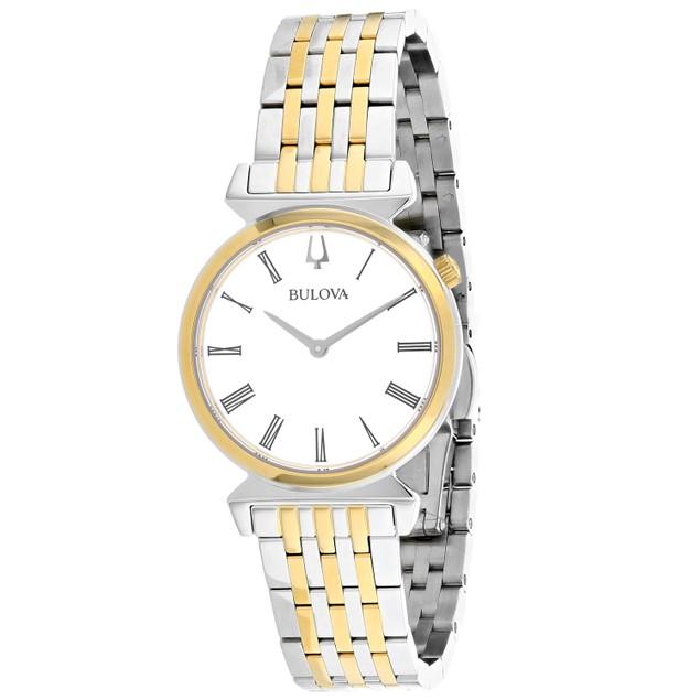 Bulova Women's Regatta White Dial Watch - 98L264