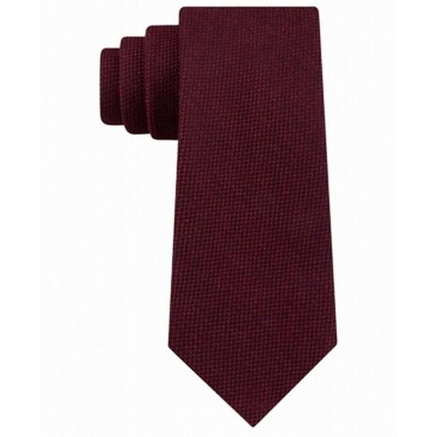 Tommy Hilfiger Men's Aaran Solid Tie Red Size Regular