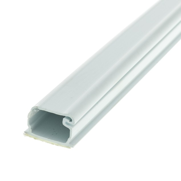 1.25 inch Surface Mount Cable Raceway, White, Straight 6 foot Section